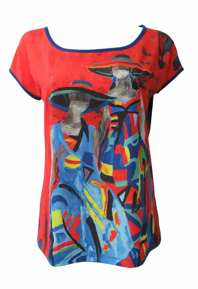 Maloka: Colors Of Picasso's Gypsy Beauty Abstract Art T-shirt (2 Left!) MK_GLORIE_N