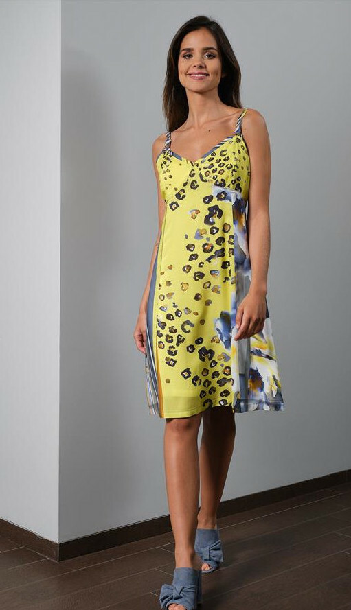 Paul Brial: Wild Lily Under The Sun Sweetheart Midi Dress (1 Left!) PB_FERIA_N