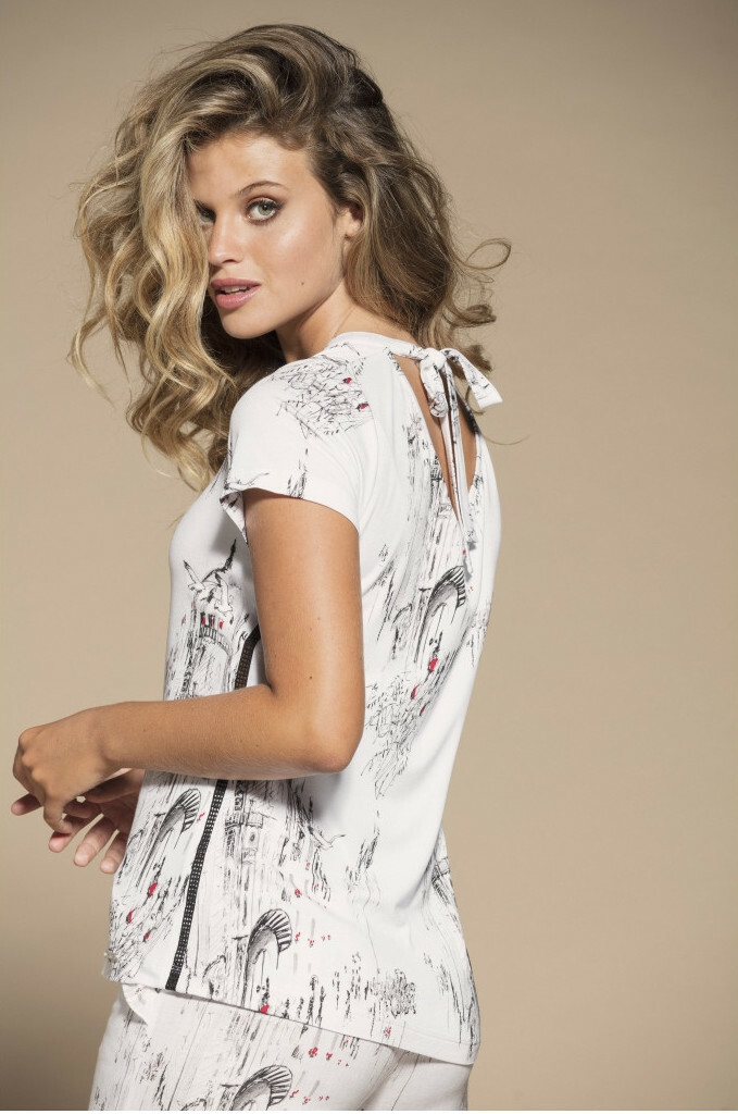 Maloka: A Day In Paris Abstract Art Back Tied Top (Few Left!) MK_BERNIE
