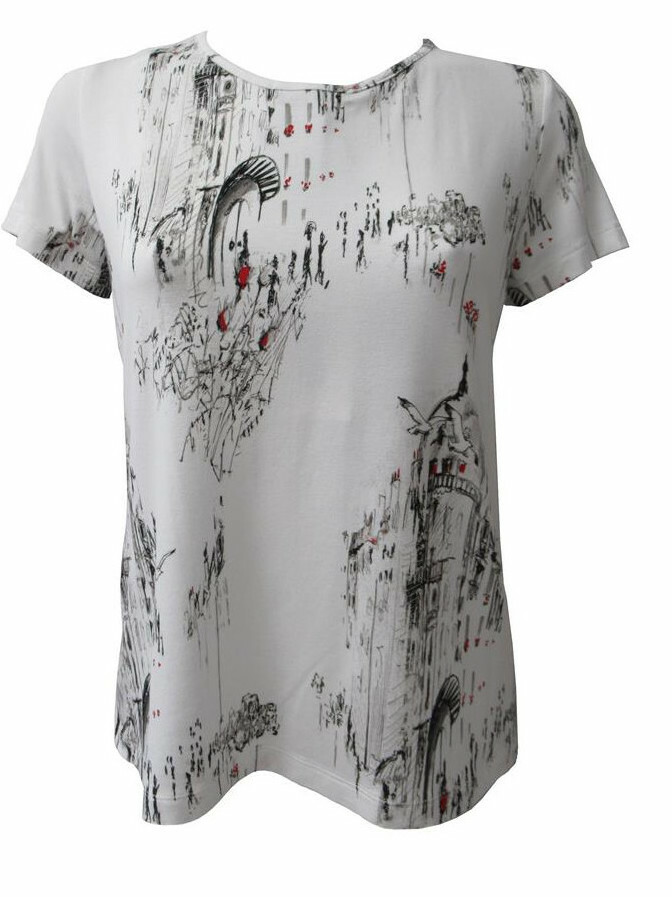 Maloka: A Day In Paris Abstract Art Back Tied Top (Few Left!)