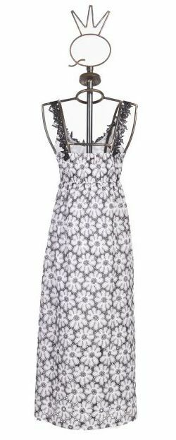 Save The Queen: Sexy Daisies In The Night Embroidered Dress