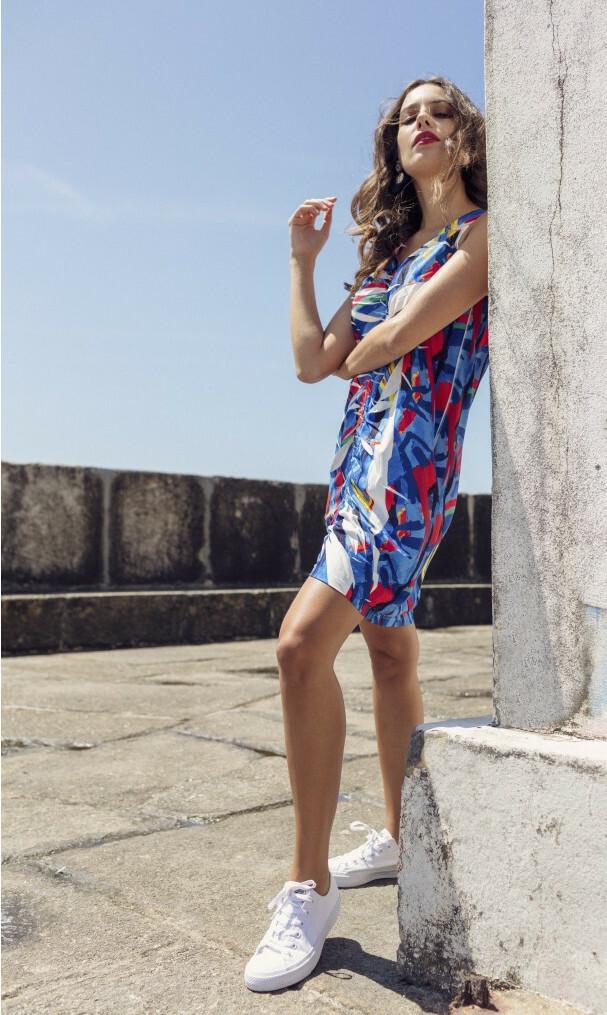 Maloka: Picasso's Gypsy Beauty Abstract Art Drawstring Adjustable Sundress