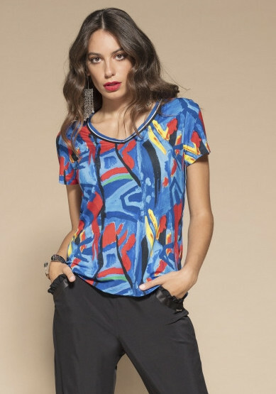 Maloka: Colors Of Picasso's Gypsy Beauty Abstract Art T-shirt MK_GISELLE_GYPSY_N