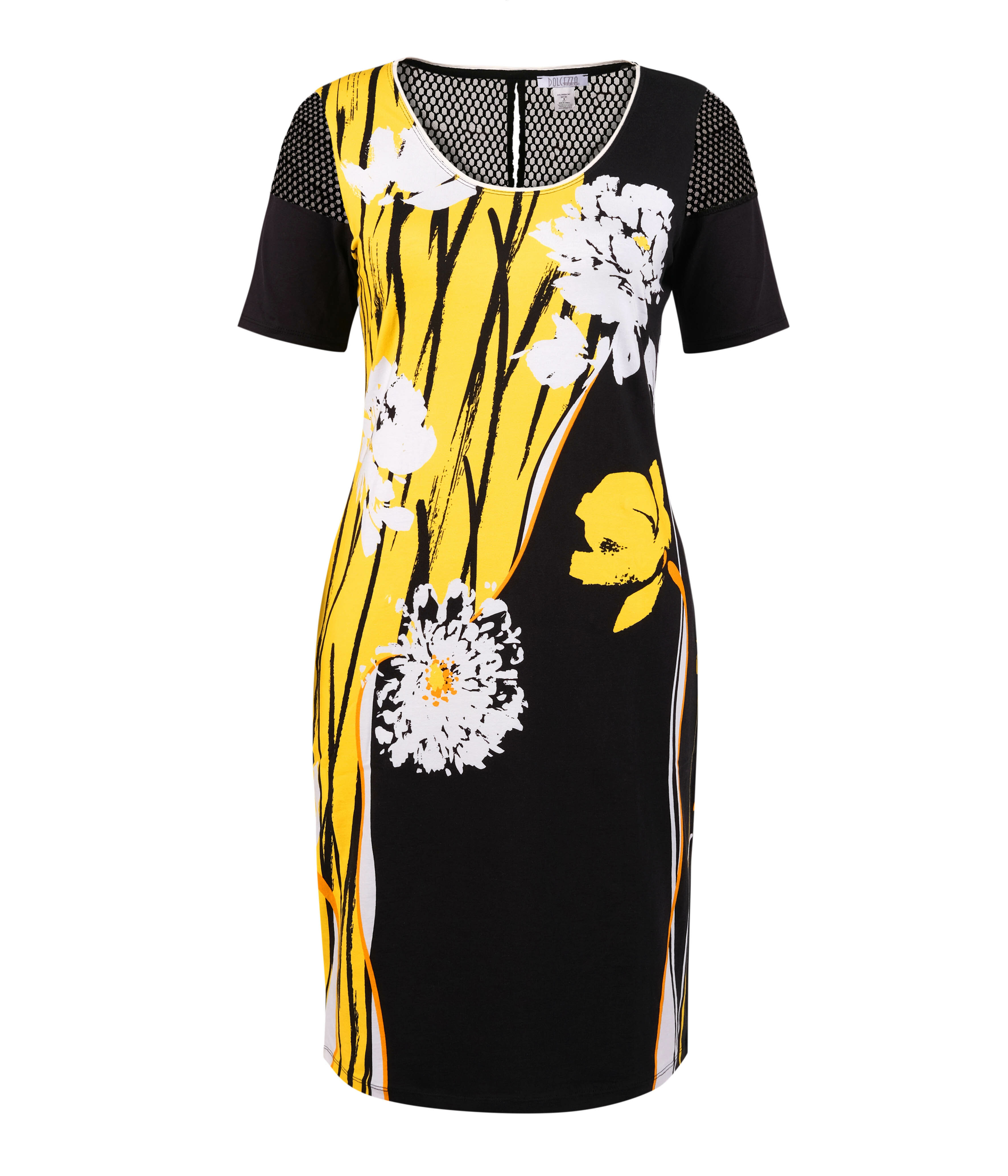 Simply Art Dolcezza: Bumble Bee Summer Bloom Abstract Art Dress (2 Left!) DOLCEZZA_SIMPLYART_20131_N