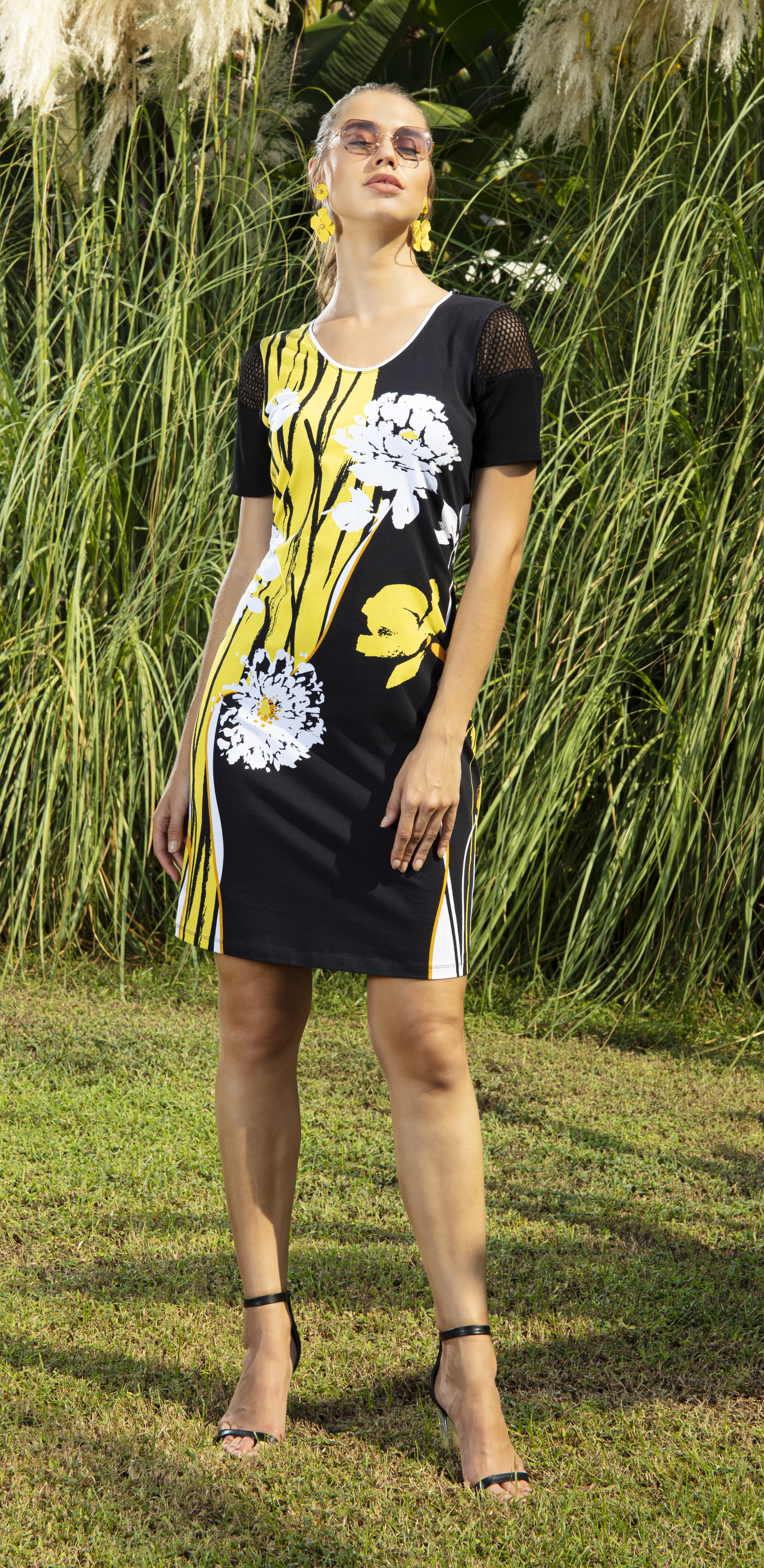 Simply Art Dolcezza: Bumble Bee Summer Bloom Abstract Art Dress (2 Left!)