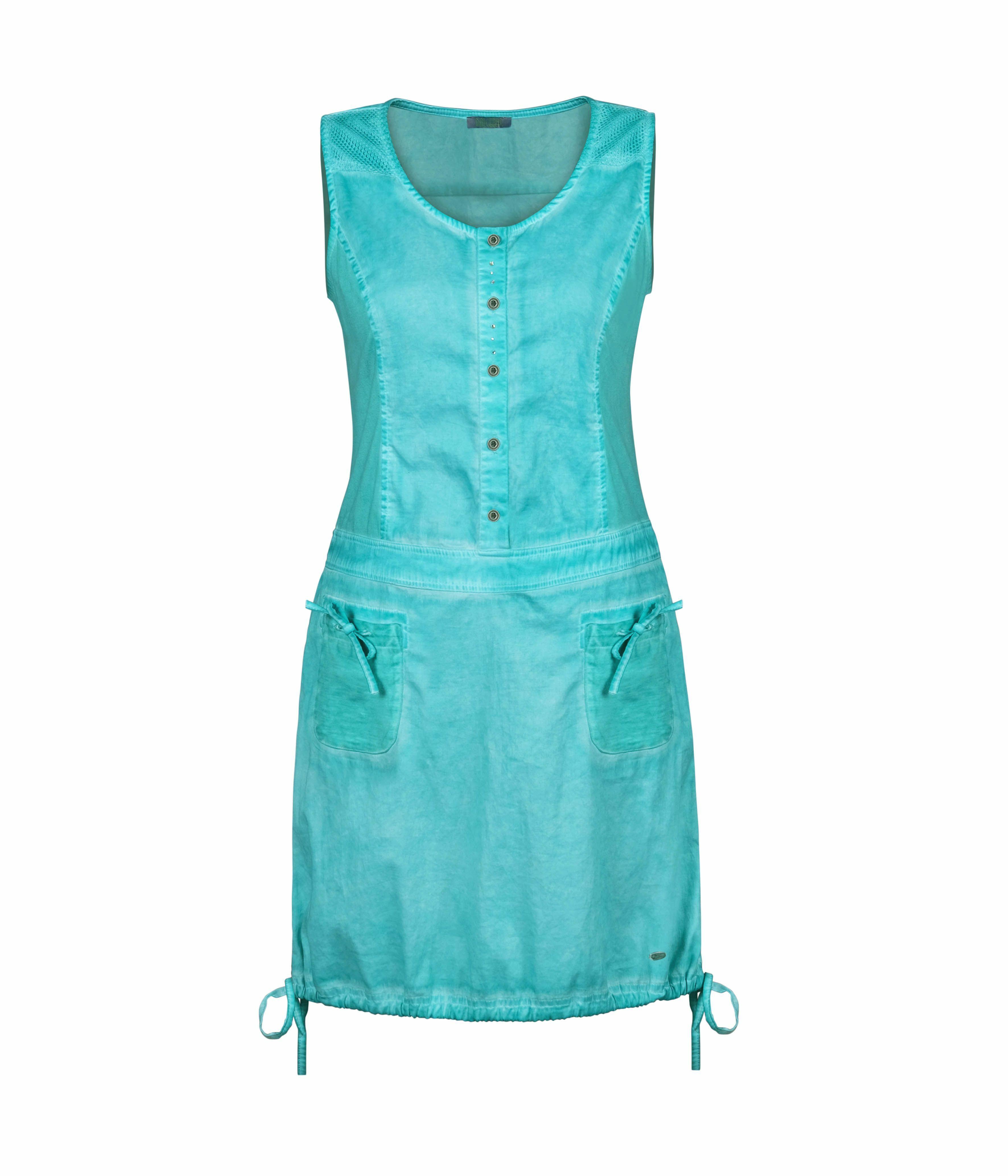 Dolcezza: Tropical Island Tied Hem Cotton Stretch Dress (1 Left!) DOLCEZZA_20200_TURQ