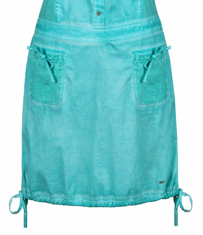 Dolcezza: Tropical Island Tied Hem Cotton Stretch Dress (1 Left!)
