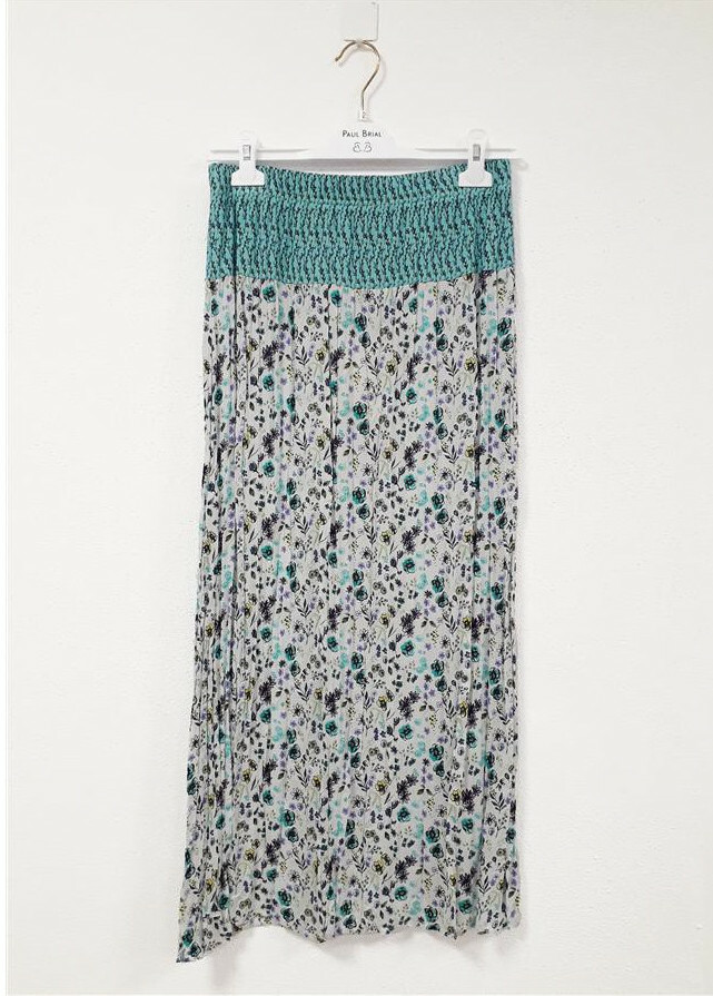 Paul Brial: Cotton Candy Crinkle Maxi Skirt (More Colors!) PB_CAMPANULE