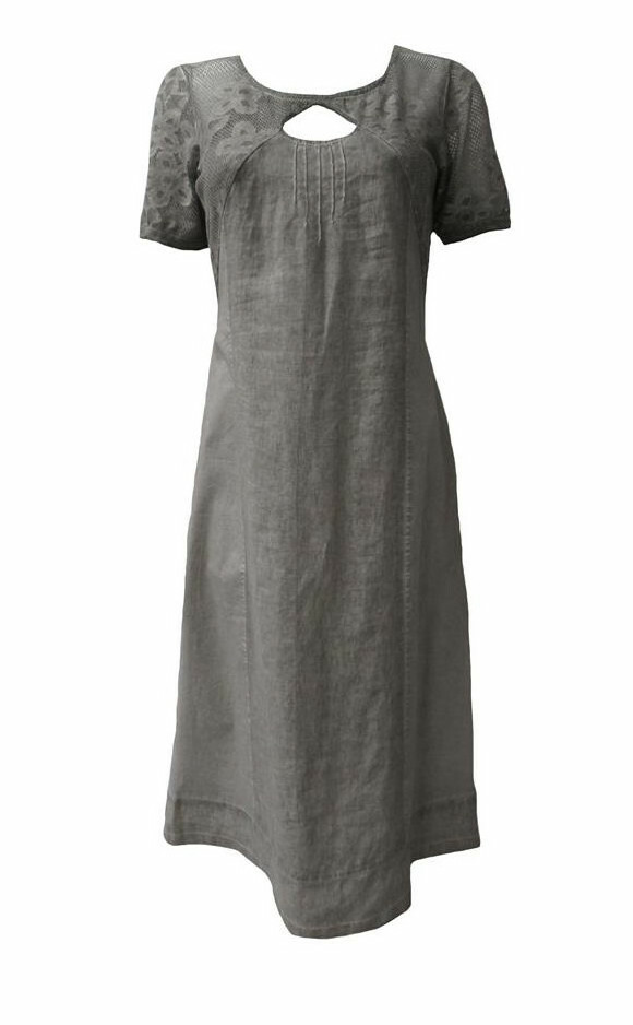 Maloka: Teardrop Cutout Lace Linen Dress (More Colors!)