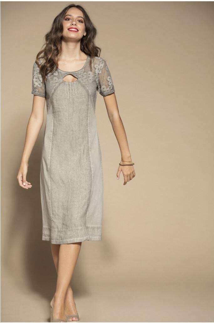 Maloka: Teardrop Cutout Lace Linen Dress (More Colors!) MK_TABATHA