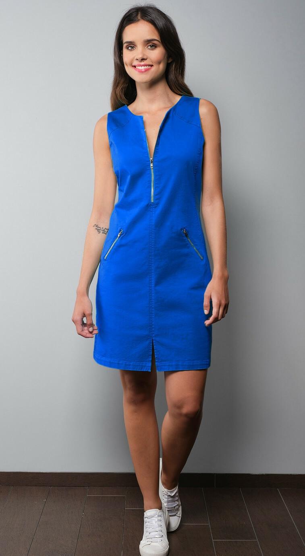 Paul Brial: Stretch Denim Desire Zip Dress In Island Colors (More Colors!)