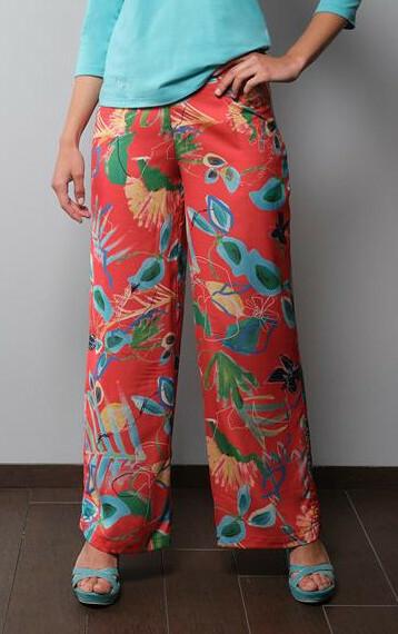 Paul Brial: Comfy Cool Hawaiian Wide Leg Art Pant PB_IMPERTINENT