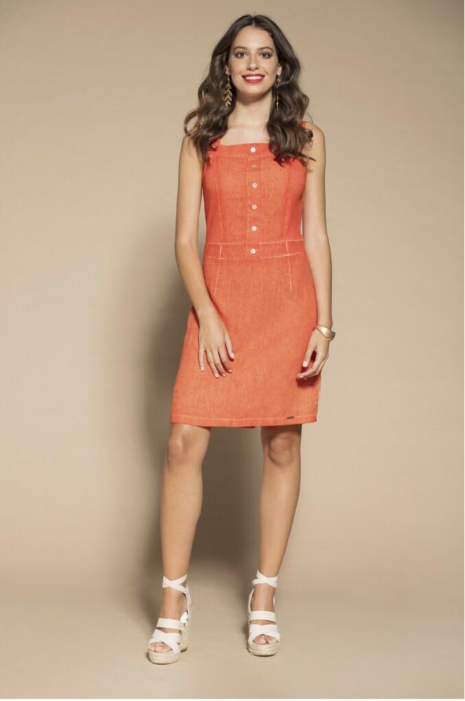 Maloka: Dip Dyed Tiara Fit & Flared Linen/Cotton Dress (More Colors!) MK_TAHIRA