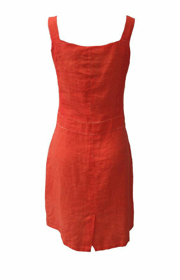 Maloka: Dip Dyed Tiara Fit & Flared Linen/Cotton Dress (More Colors!)