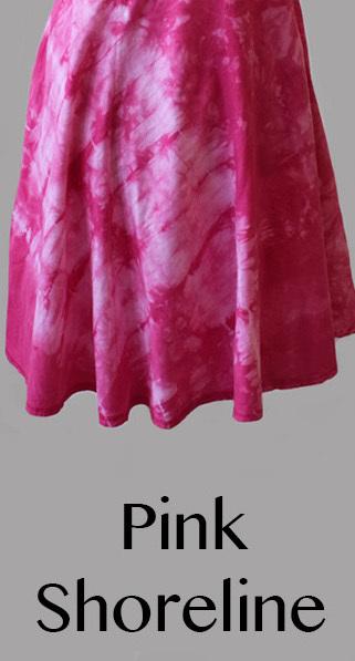 Luna Luz: Square Neck Godet Dyed Tank Dress (Ships Immed in Pink Shoreline!) 5533_PINK_SHORELINE