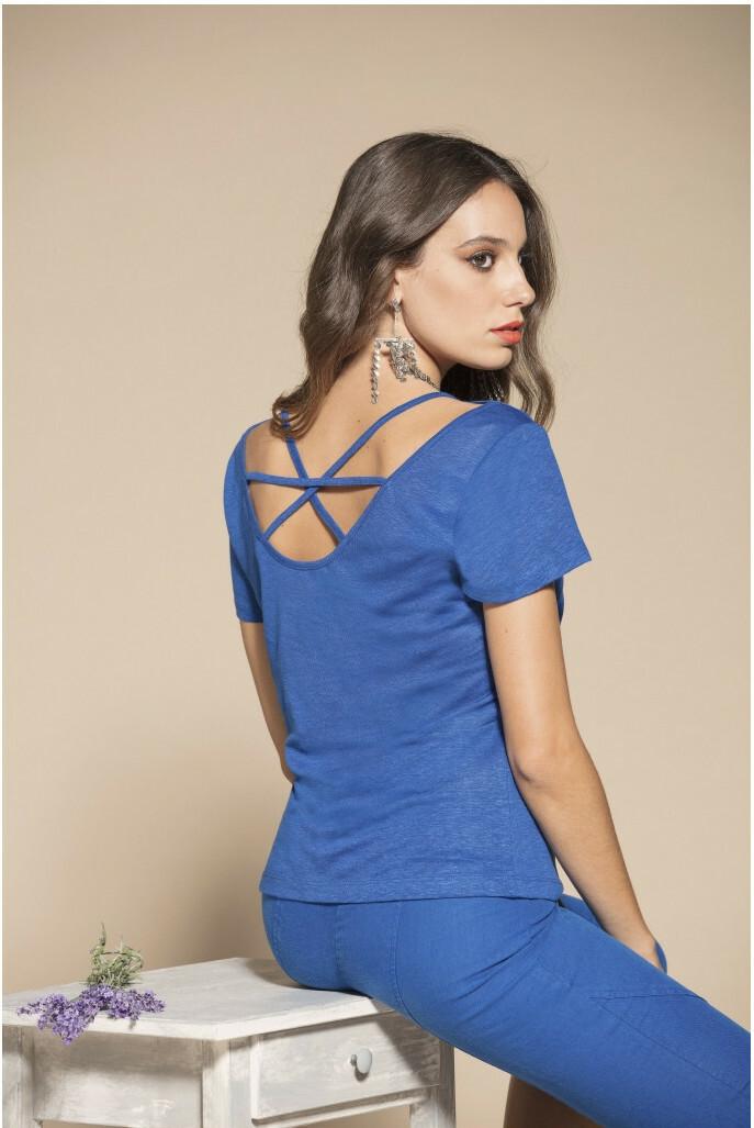 Maloka: Criss Cross Crush Linen T-Shirt (More Colors!) MK_MIMI