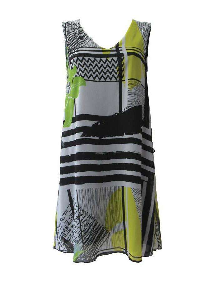 Maloka: Lemon Marble Beauty Abstract Art Beach Tunic/Dress MK_NINA_LEMON_MARBLE
