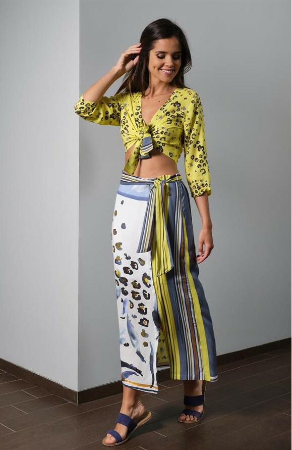 Paul Brial: Lilies Under The Sun Cutout Maxi Skirt