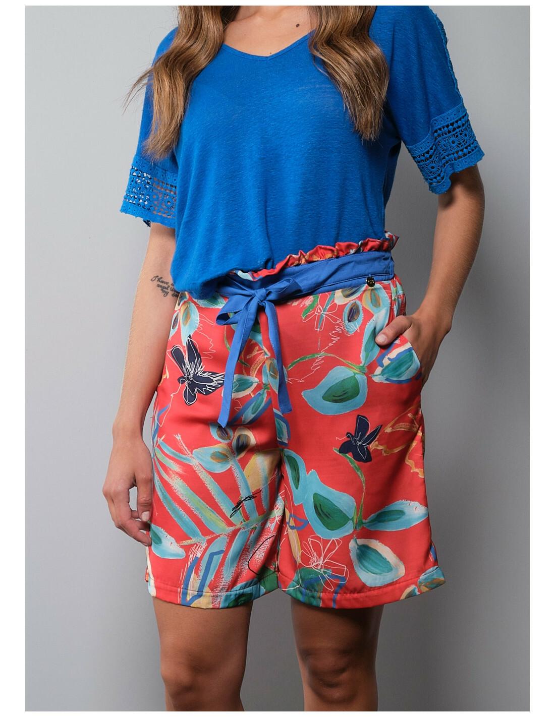 Paul Brial: Comfy Cool Hawaiian Frills Shorts PB_FRIVOLE_SOUFFLE