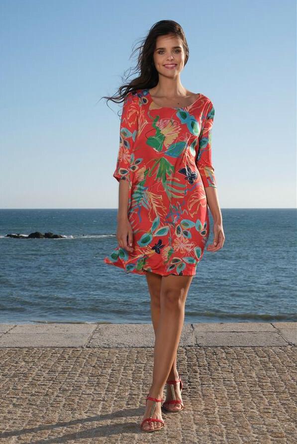 Paul Brial: Cool Hawaiian Cotton/Linen Midi Dress PB_LIBERTE_dress