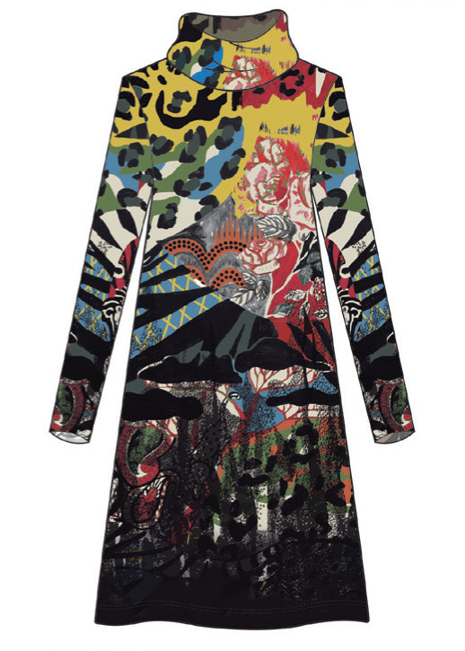 Maloka: Jungle Party Abstract Art Sweater Dress