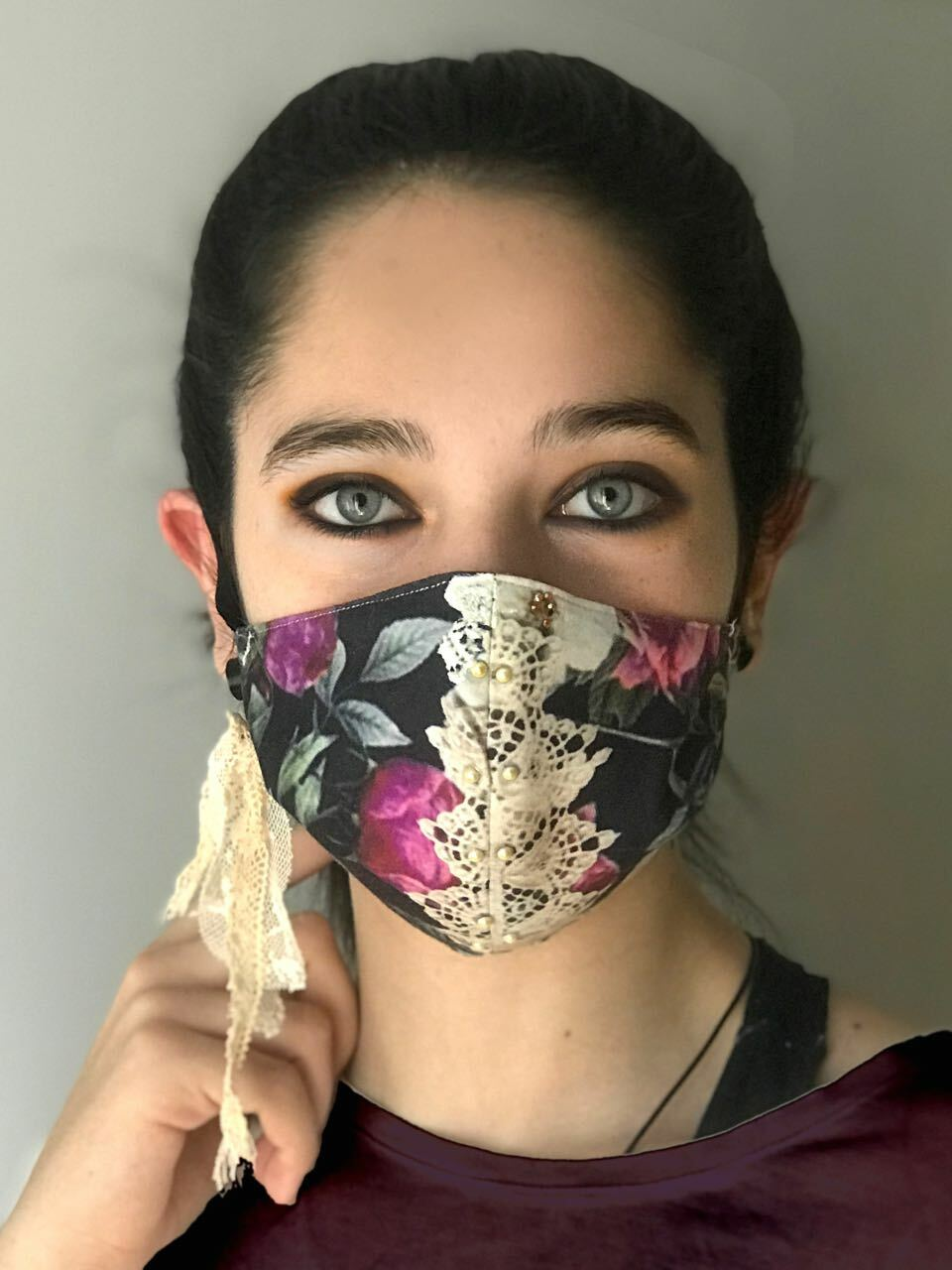 IPNG: Gingham Rose Fairytale Mask IPNG_MA3_GINGHAM_ROSE