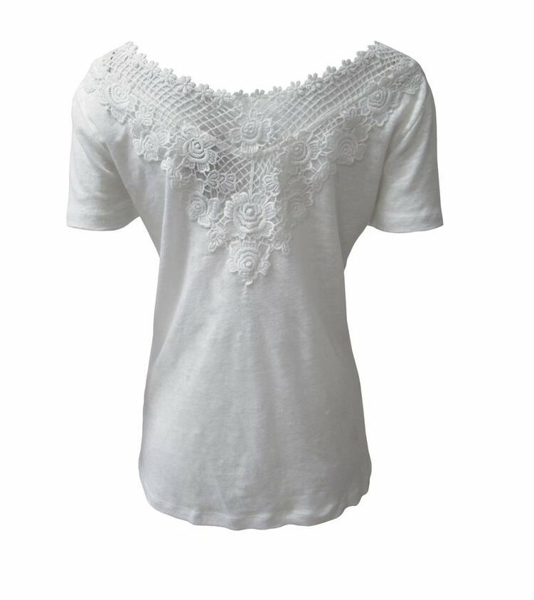Maloka: Rose Petal Back Linen Top