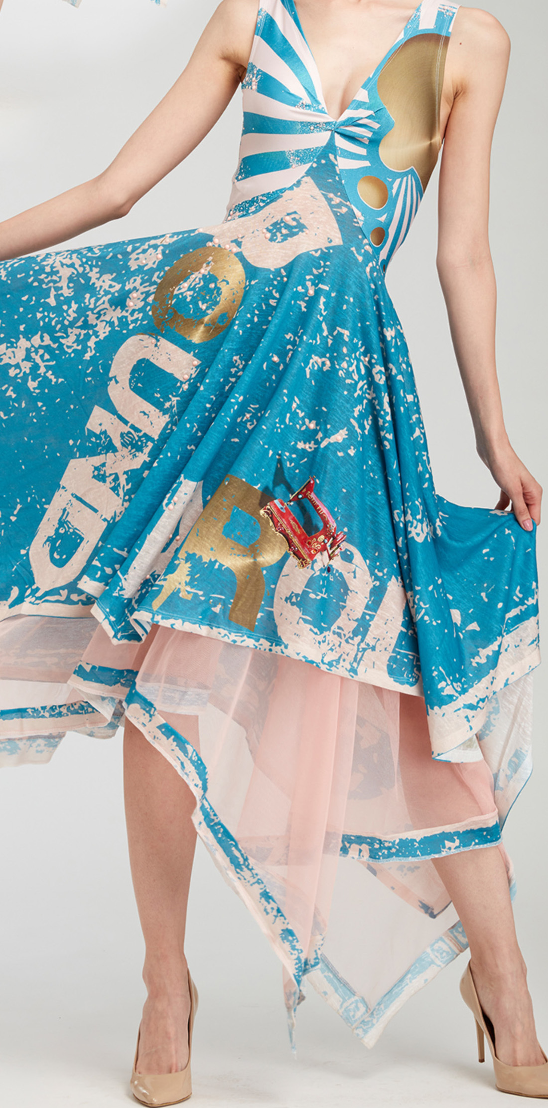 IPNG: Sunny Speach Four Corner Illusion Dress