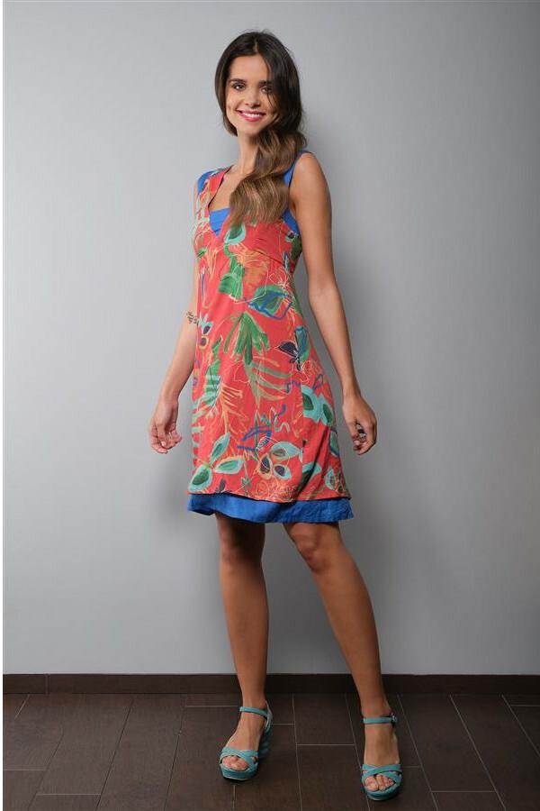 Paul Brial: Hawaiian Breeze Art Double Hem Dress PB_INSOLENTE_DRESS