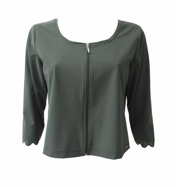 Maloka: Sleek Swirl Sleeve Zip Bolero (More Colors!) MK_KRISTINA