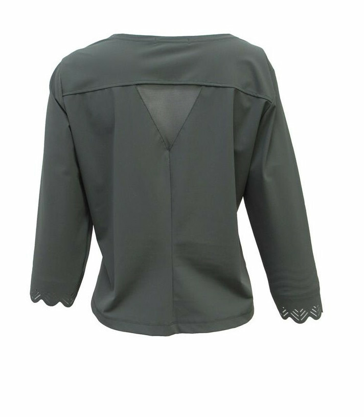 Maloka: Sleek Swirl Sleeve Zip Bolero (More Colors!)