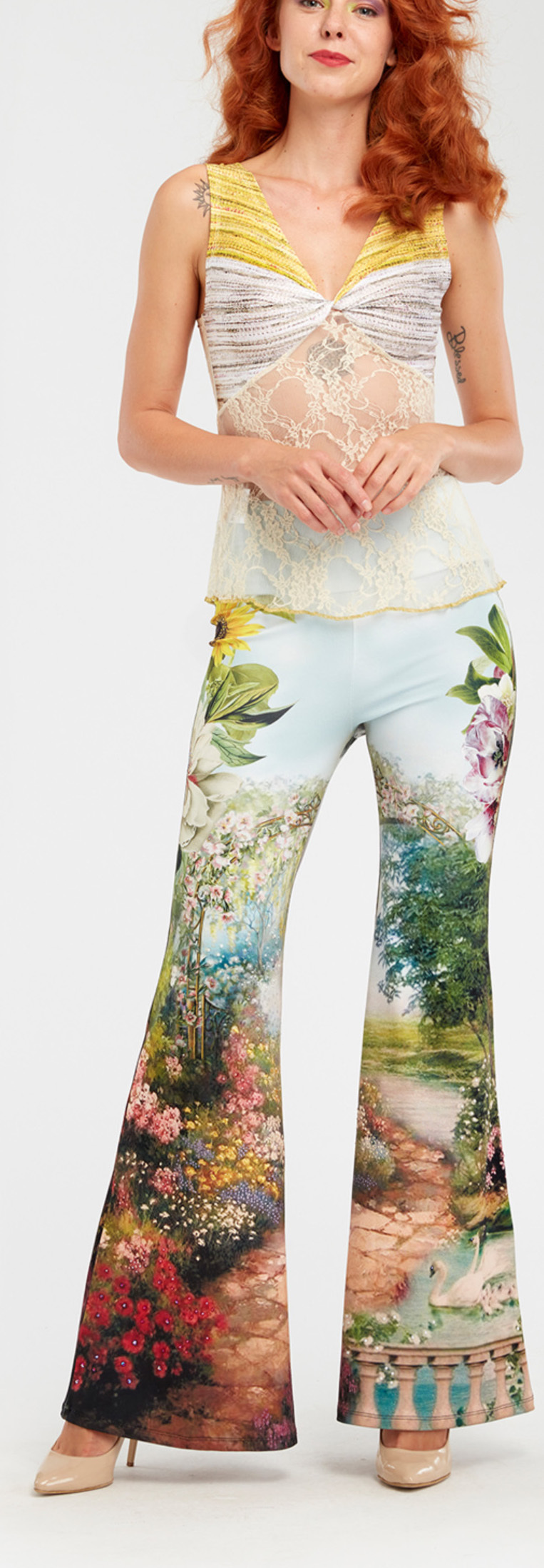 IPNG: In Paradiso Sunflower Magical Garden Flared Pant