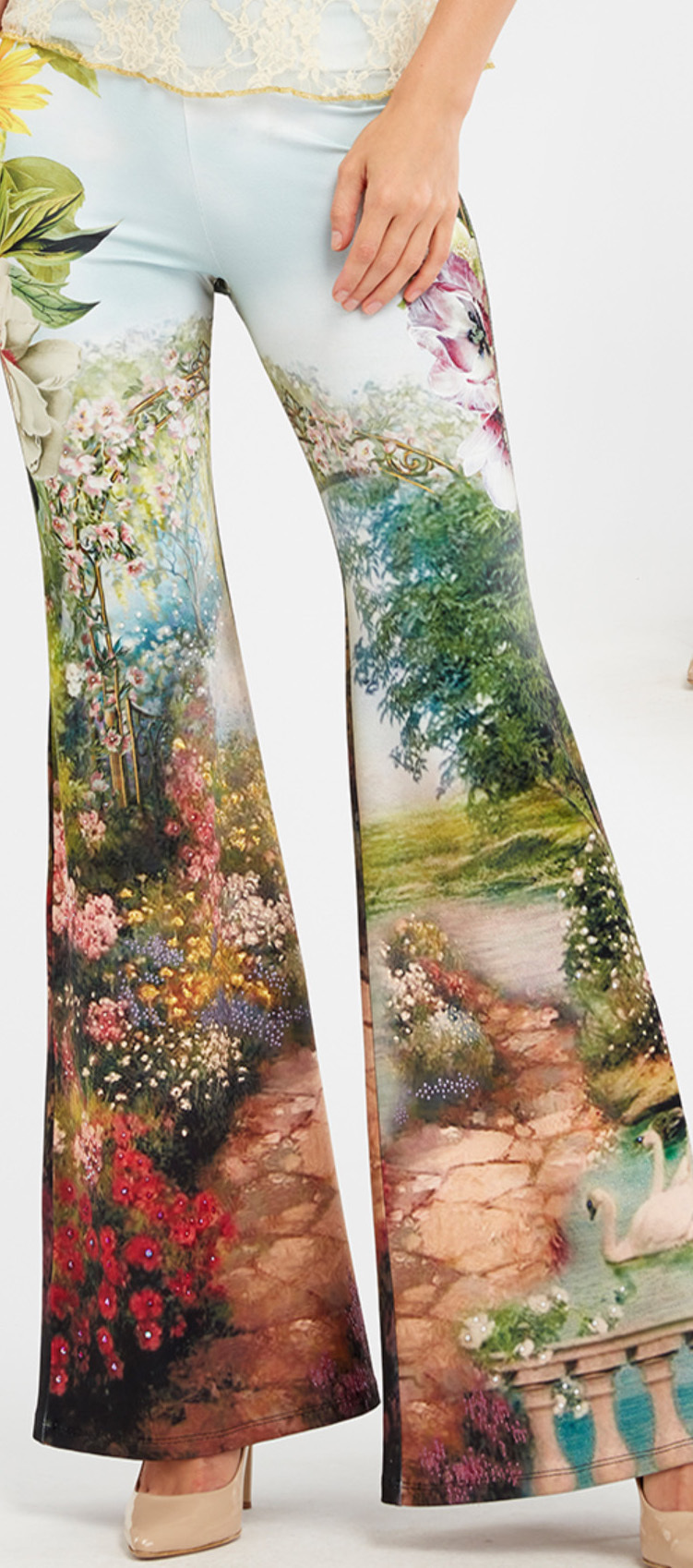 IPNG: In Paradiso Sunflower Magical Garden Flared Pant IPNG_IPP-075