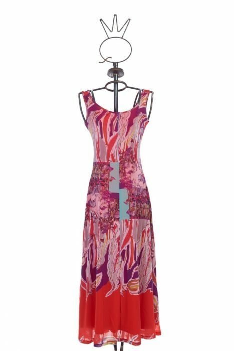Save The Queen: Purple Lilacs & Pink Roses On Fire Maxi Dress (1 Left!)