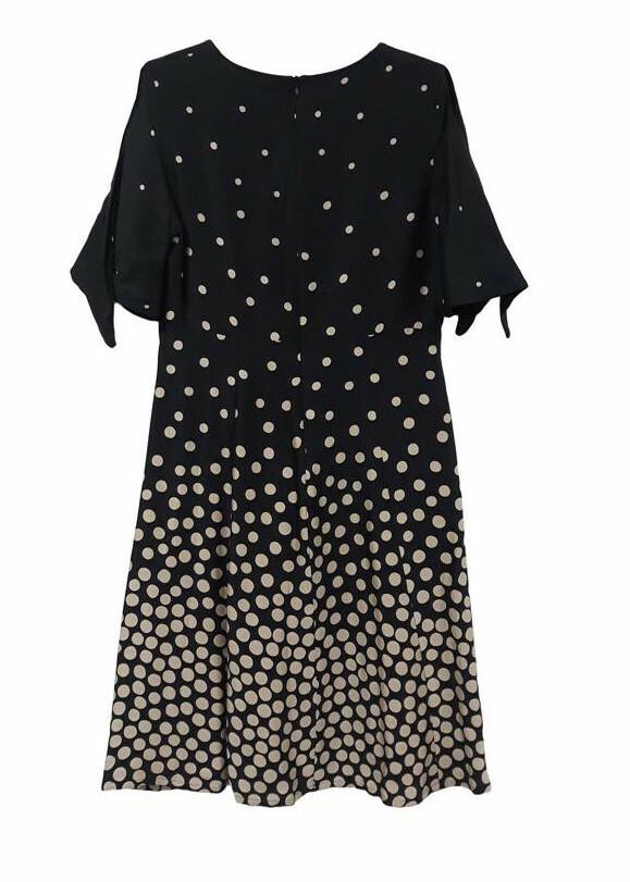 Paul Brial: Tied Sleeve Flared Shirt Dress
