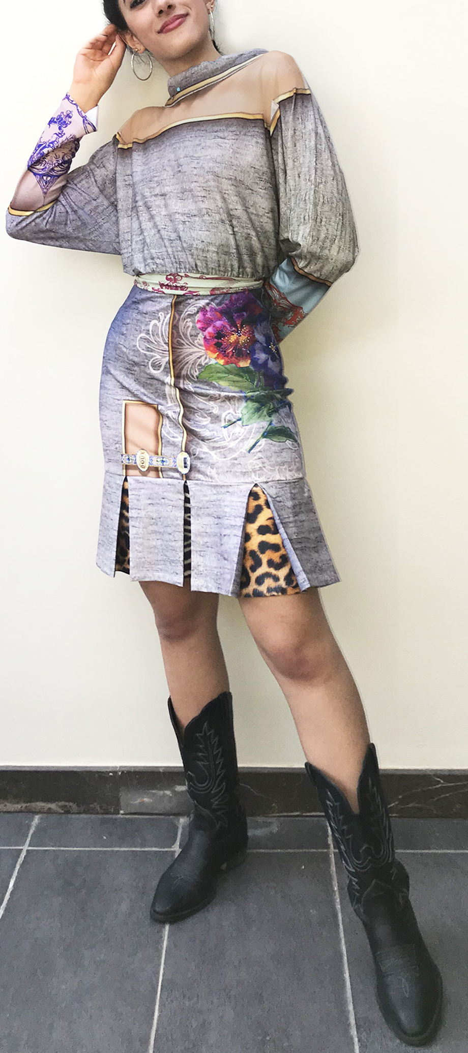 IPNG: Label Longings Tigress Illusion Flared Skirt (Some Ship Immed, 1 Left!)