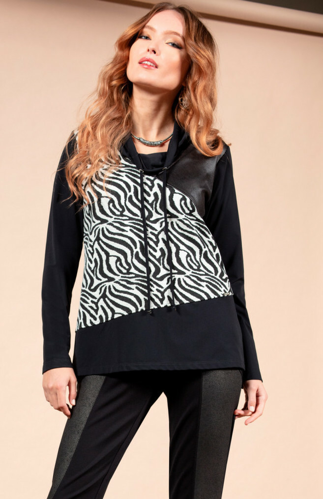 Maloka: Zebra Safari Sweater Tunic MK_ZOELA