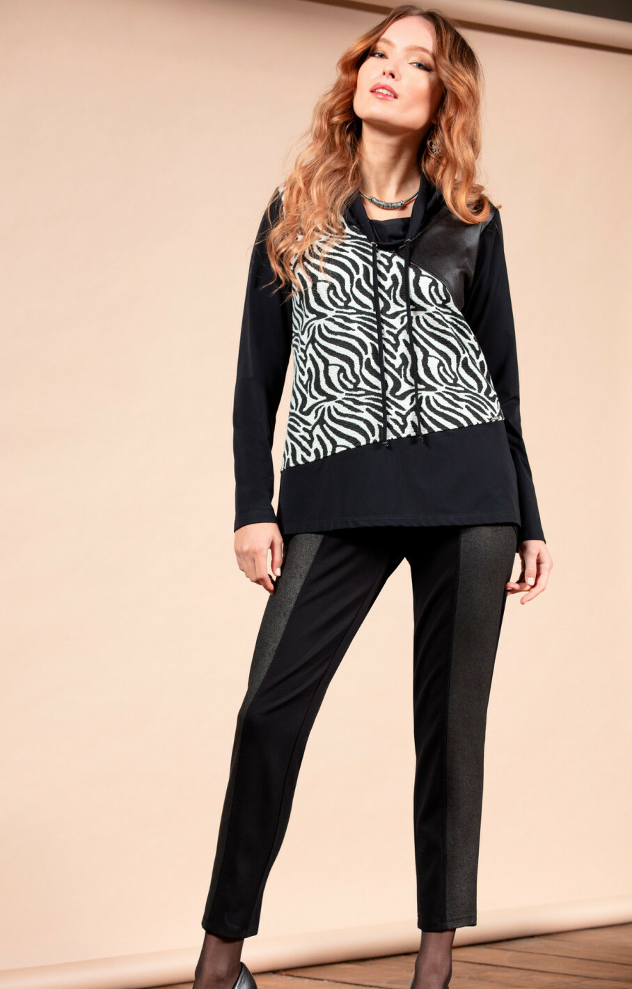 Maloka: Zebra Safari Sweater Tunic