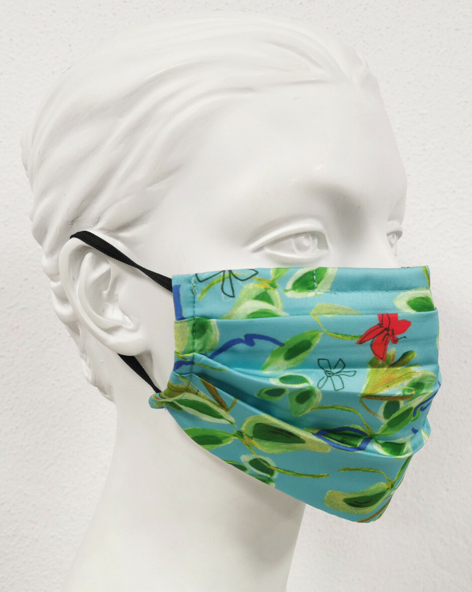 Paul Brial: Emerald Flower Under The Sea Protective Pleated Mask (Filter Included!)