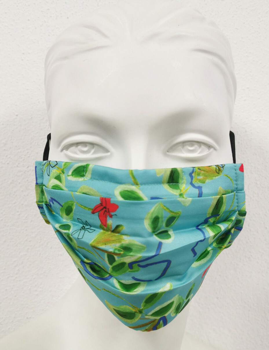 Paul Brial: Emerald Flower Under The Sea Protective Pleated Mask (Filter Included!) PB_EMERALD_MASK