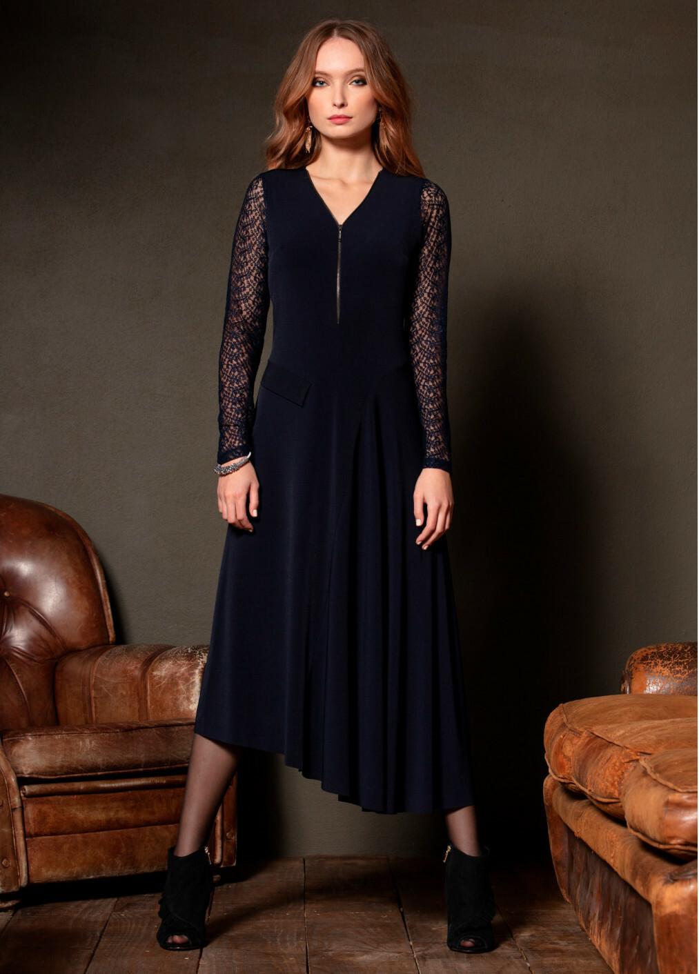Maloka: Sophisticated Madame Asymmetrical Jersey Dress (More Colors!) MK_POLIANA_N