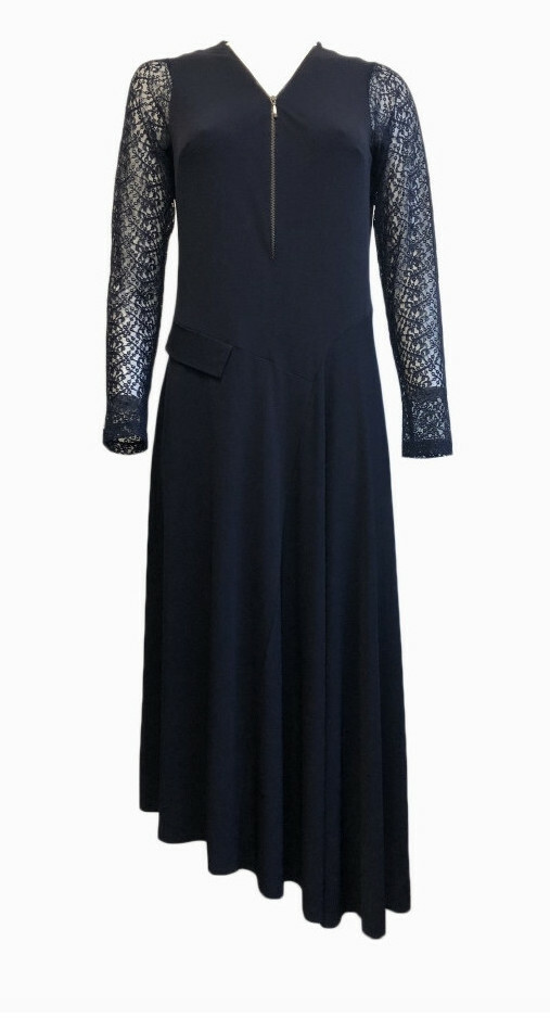 Maloka: Sophisticated Madame Asymmetrical Jersey Dress (More Colors!)