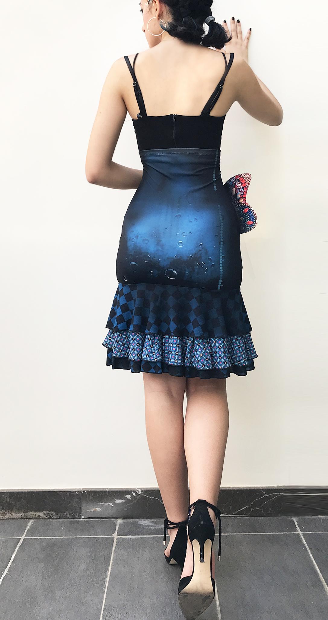 IPNG: Turquarium Jeweled Underwater Illusion Scene Ruffled Skirt (Some Ship Immed!)