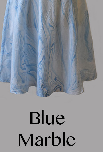 Luna Luz: Ribbed Linen A-Line Tie Dye Dress (Many Tie Dye Color Patterns, Ships Immed!)