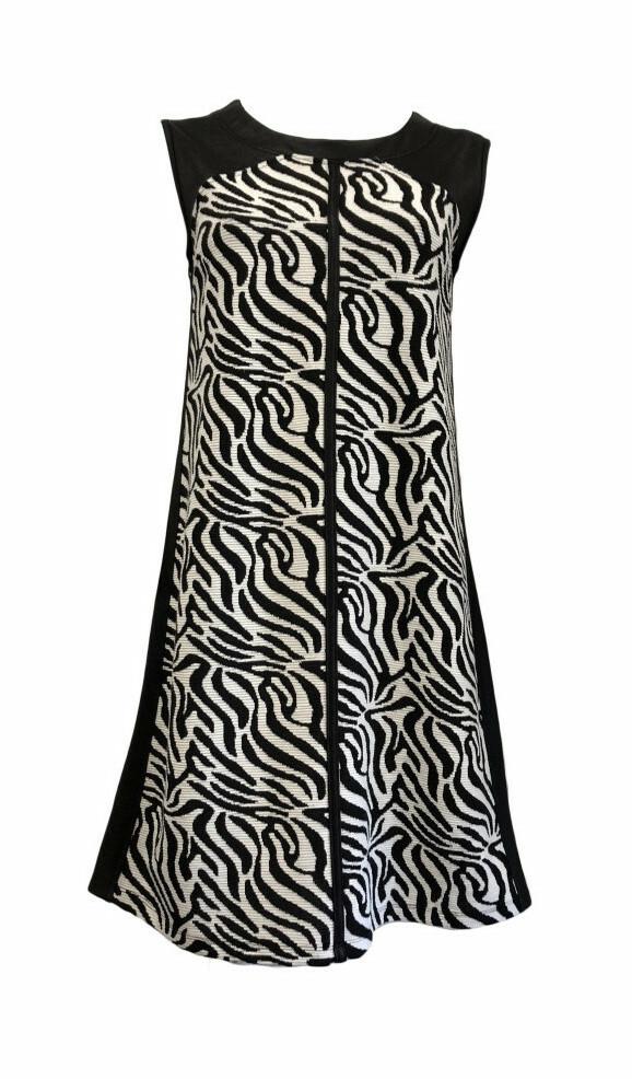 Maloka: Zebra Safari Sleeveless Flared Dress