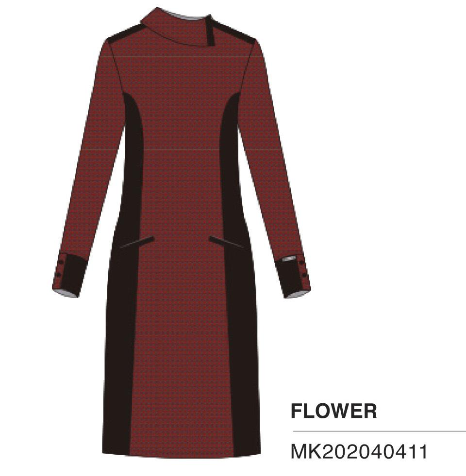 Maloka: Sedona Rock Jacquard Contrast Dress