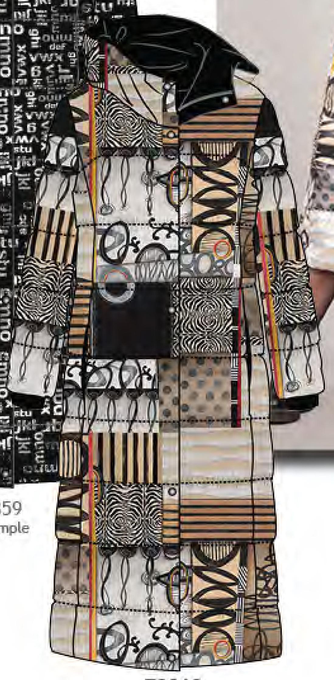 Simply Art Dolcezza: Black Butterfly Poetic Metaphor Art Long Puffer Coat