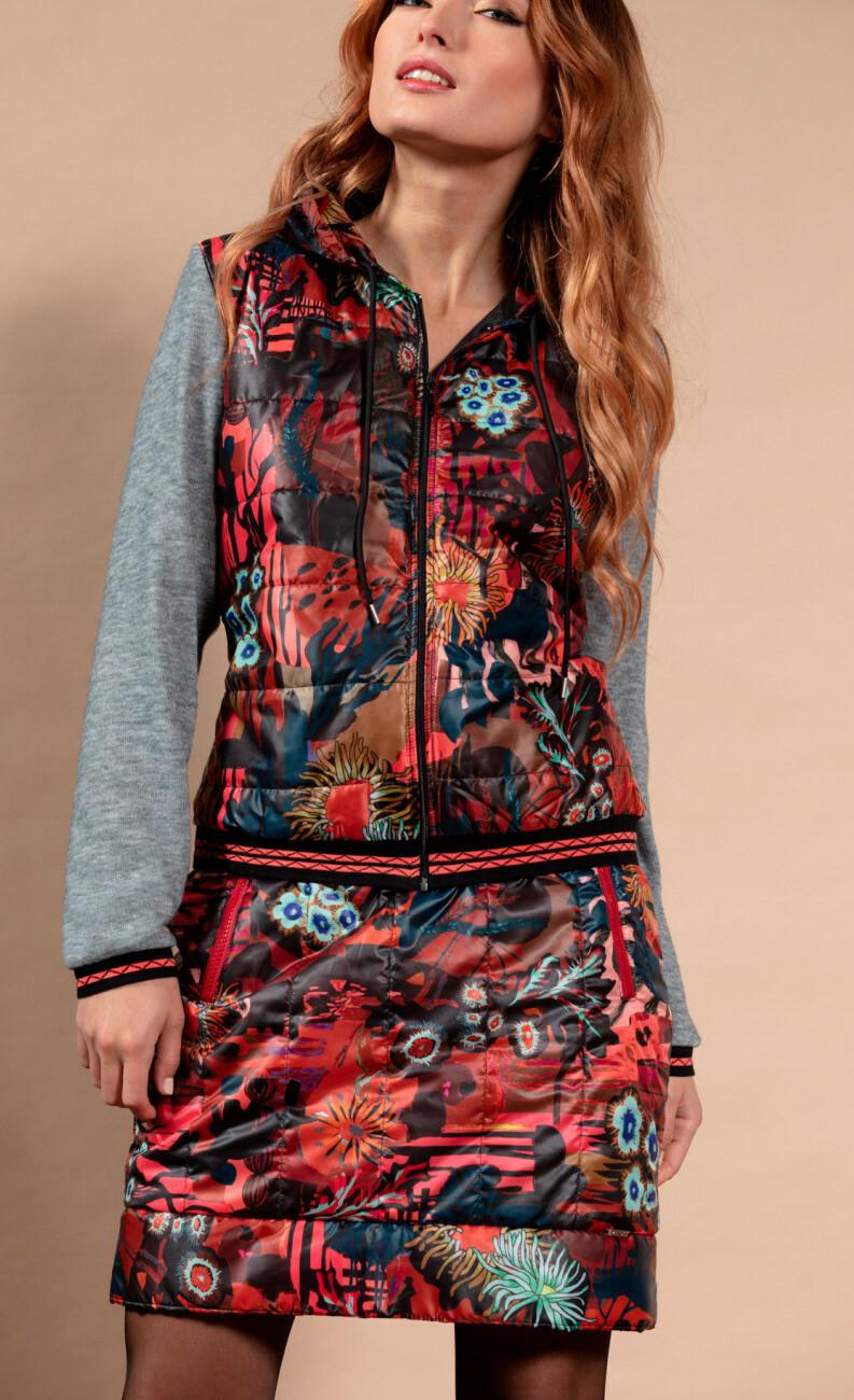 Maloka: Maloka: Sedona Rock Puffer Art Skirt