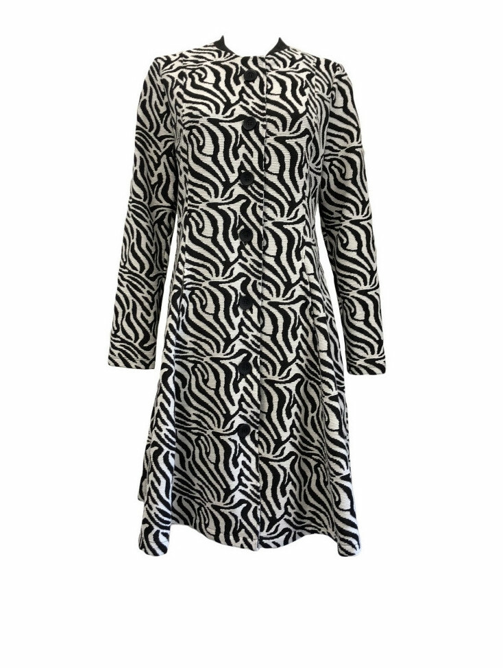 Maloka: Zebra Safari Flared Coat