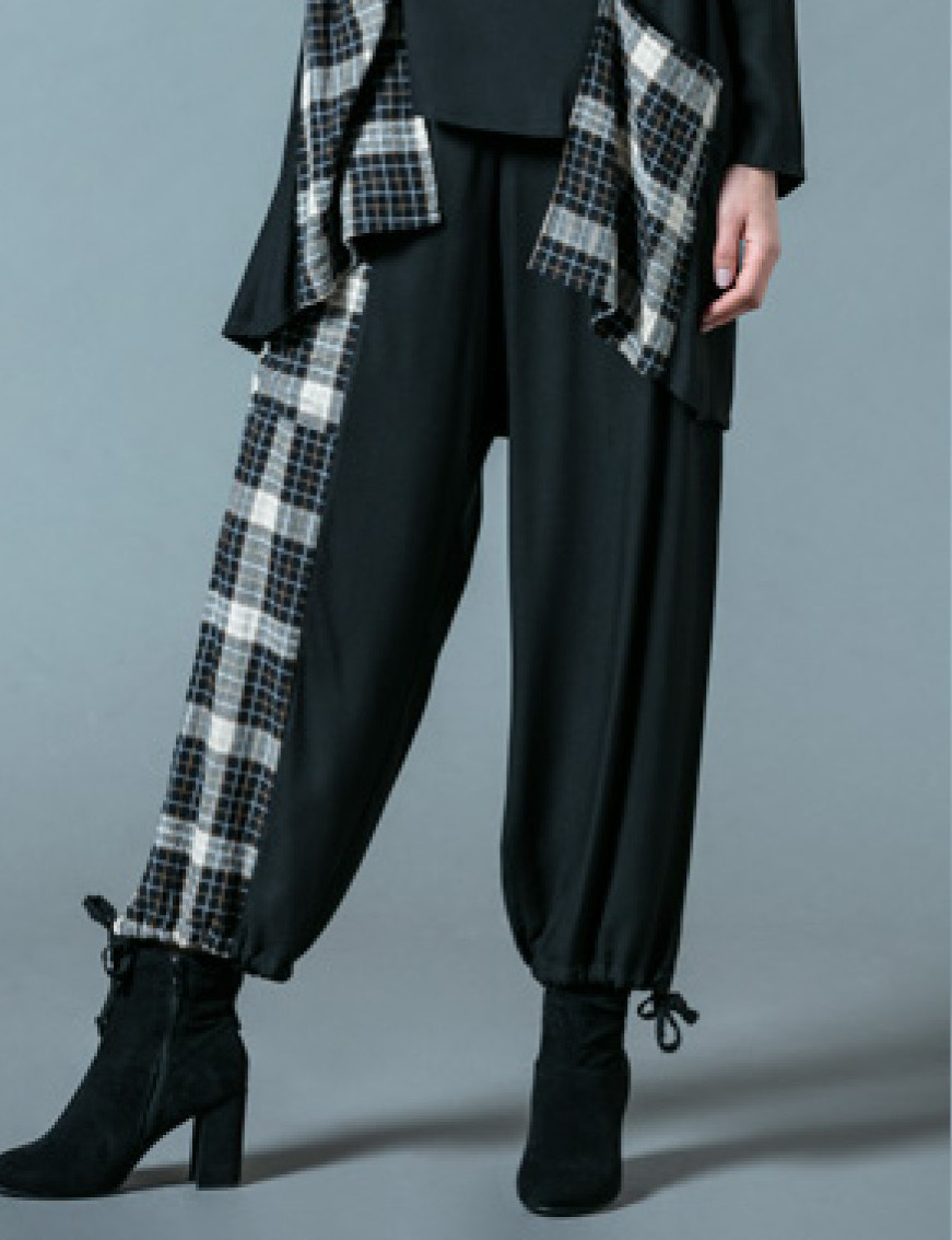 G!oze France: Play Checkerboard Asymmetrical Culotte Pant G_EPERVIER